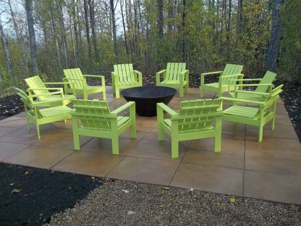 fire pit decor simple outdoor chairs