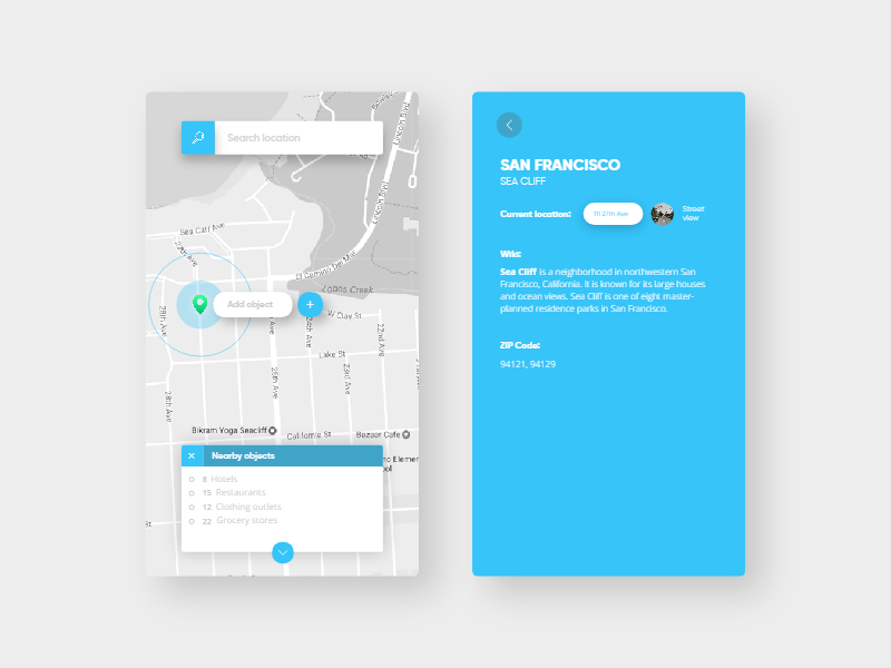 Day 27  Late night map ui concept | UI | Dashboard ui, App