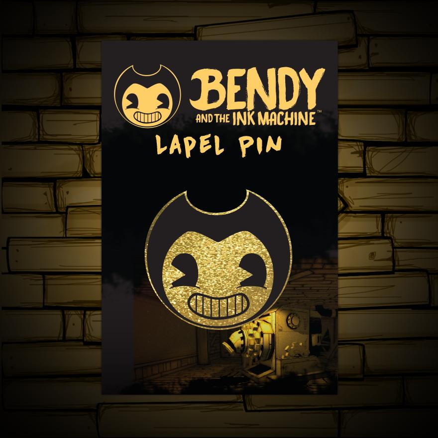 Bendy Lapel Pin Bendy And The Ink Machine Official Store Bendy And The Ink Machine Ink Lapel Pins
