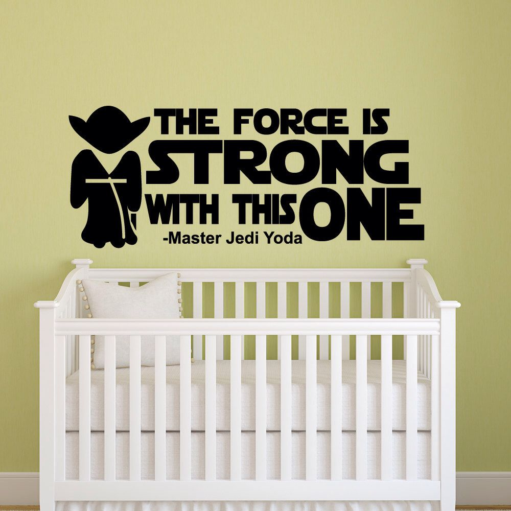 STAR WARS Baby Room Jedi Wall Decal Sticker Vinyl Silhouette Art ...