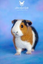 needle felted guinea pig pet portrait II by SaniAmaniCrafts on DeviantArt