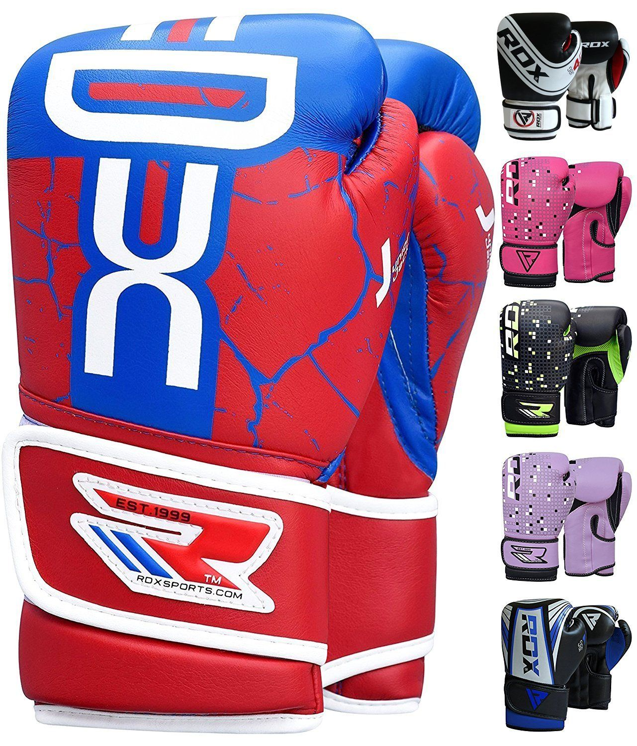 Grappling Dummy and Focus Pads Punching Good for Youth Punch Bag 6oz Mitts for Sparring Maya Hide Leather Junior 4oz Fighting and Kickboxing RDX Kids Boxing Gloves for Training and Muay Thai