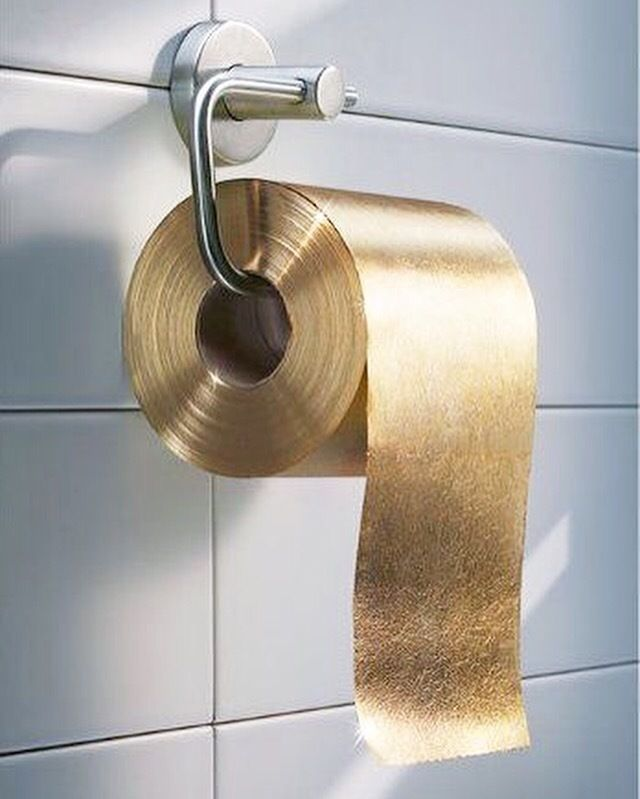 24k gold toilet paper. If you need an extra special treatment  Then gold toilet paper might be right