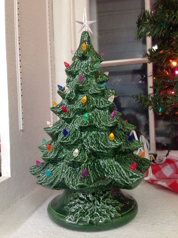 Ceramic Christmas Tree 12 Inches Ceramic Christmas Tree 12 Etsy Ceramic Christmas Trees Christmas Tree Vintage Ceramic Christmas Tree