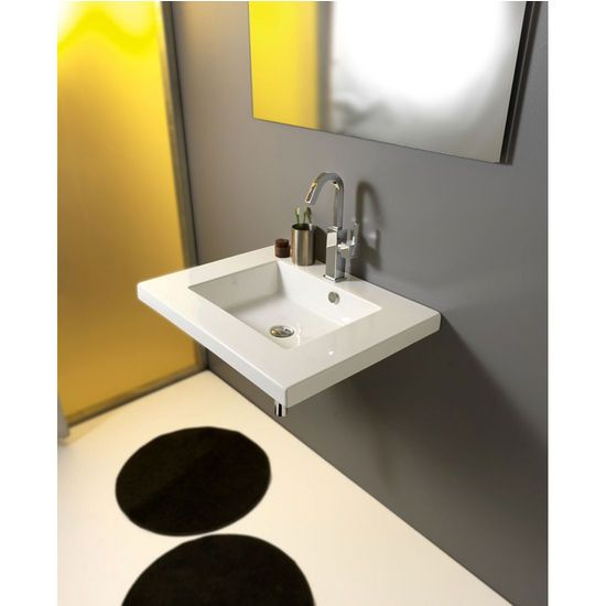 Nameeks Built In Or Wall Mounted Ceramic Washbasin With Overflow 27 3 5inch W X 21 3 10 Wall Mounted Bathroom Sinks Ceramic Bathroom Sink Small Bathroom Sinks