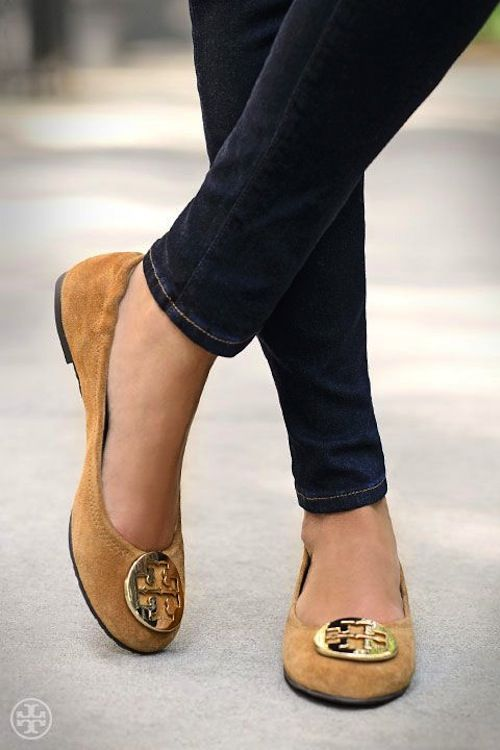 Tory Burch Suede Flats