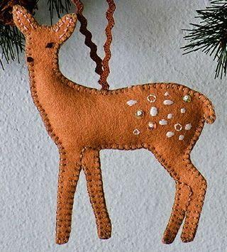 Inspiration: Felt Deer Ornament