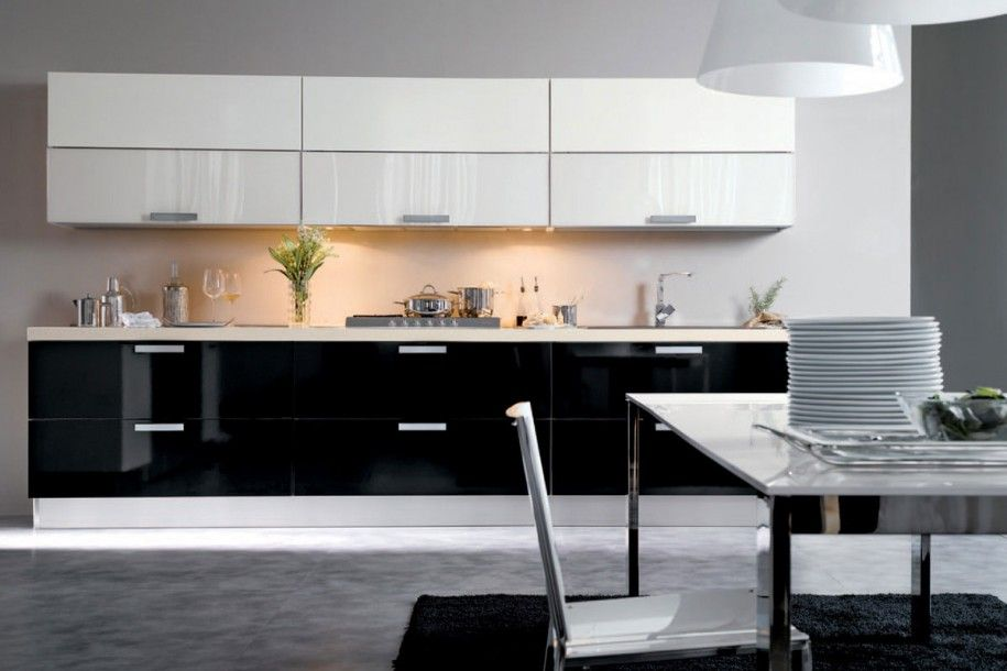 Image Result For Black And White Interior Design Kitchen  Salle À Mesmerizing Black And White Kitchens Designs 2018