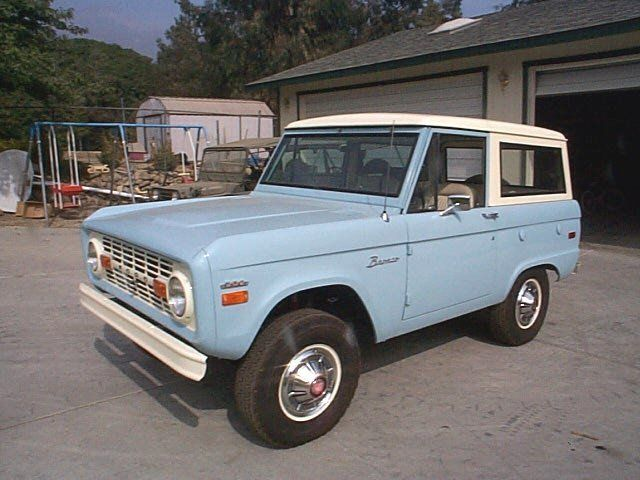 Baby Blue 1970 Ford Bronco My Grandfather Had One Just Like It This Brings Back So Many Memories
