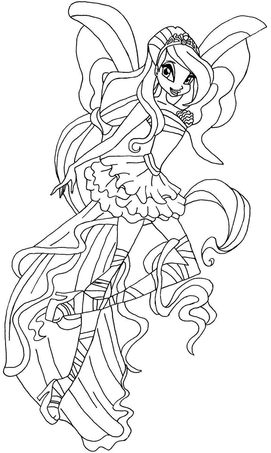 51 Coloriage Mandala Winx Imprimer Mermaid Coloring Pages Fairy Coloring Pages Coloring Pages