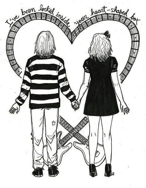 Kurt Cobain & Courtney Love fan art