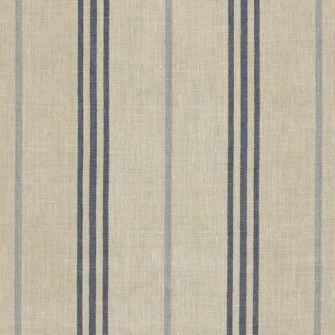 maritime linen ticking blue stripes fabric. Black Bedroom Furniture Sets. Home Design Ideas