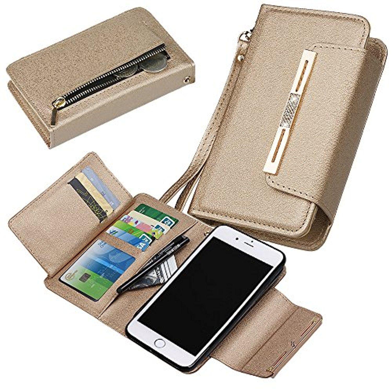 buy popular be448 541ef iPhone 7 Plus Wallet Case, xhorizon (TM) FLK [Upgraded] 2 in 1 ...