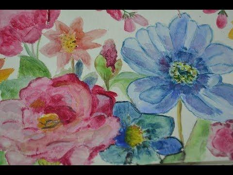 Peinture Facile Premiers Pas A L Aquarelle Tutoriel Pour