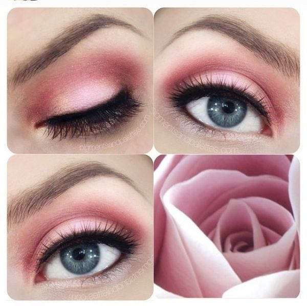 rose eye make up look makeup pinterest makeup selbst. Black Bedroom Furniture Sets. Home Design Ideas