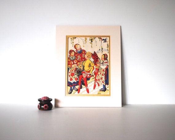 the red horse vintage illustration