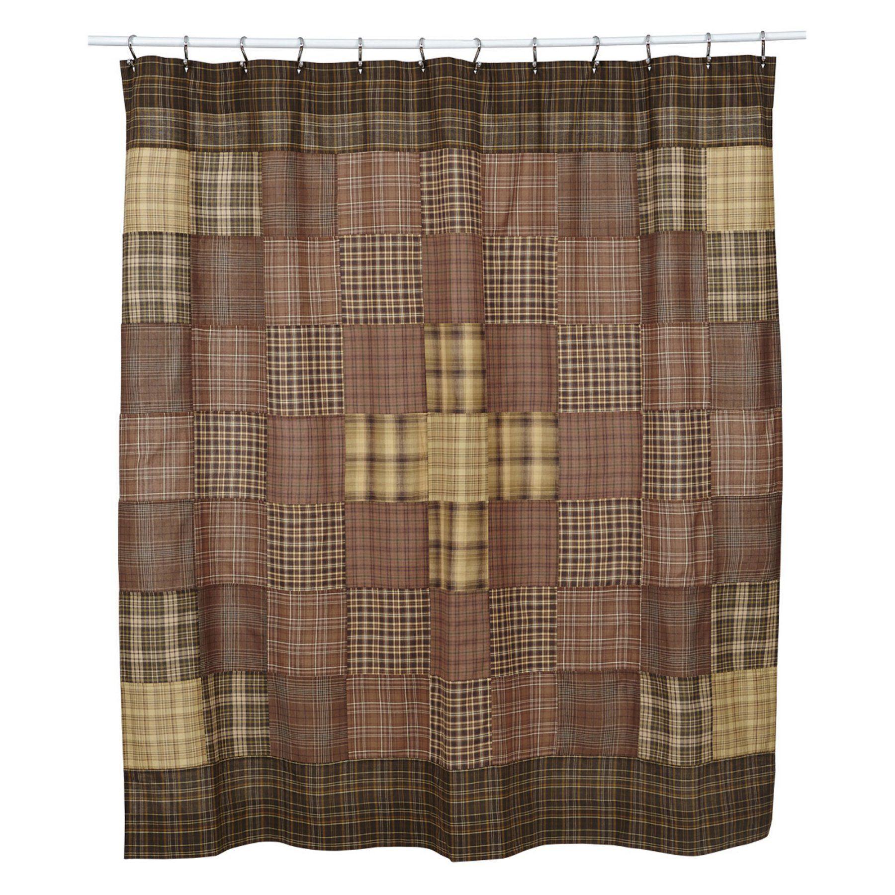Vhc Prescott Unlined Shower Curtain 14968 Fabric Shower