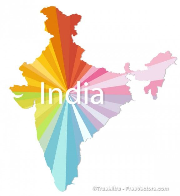 Colorful India Map Vector Vector Free Download Travel - India map vector