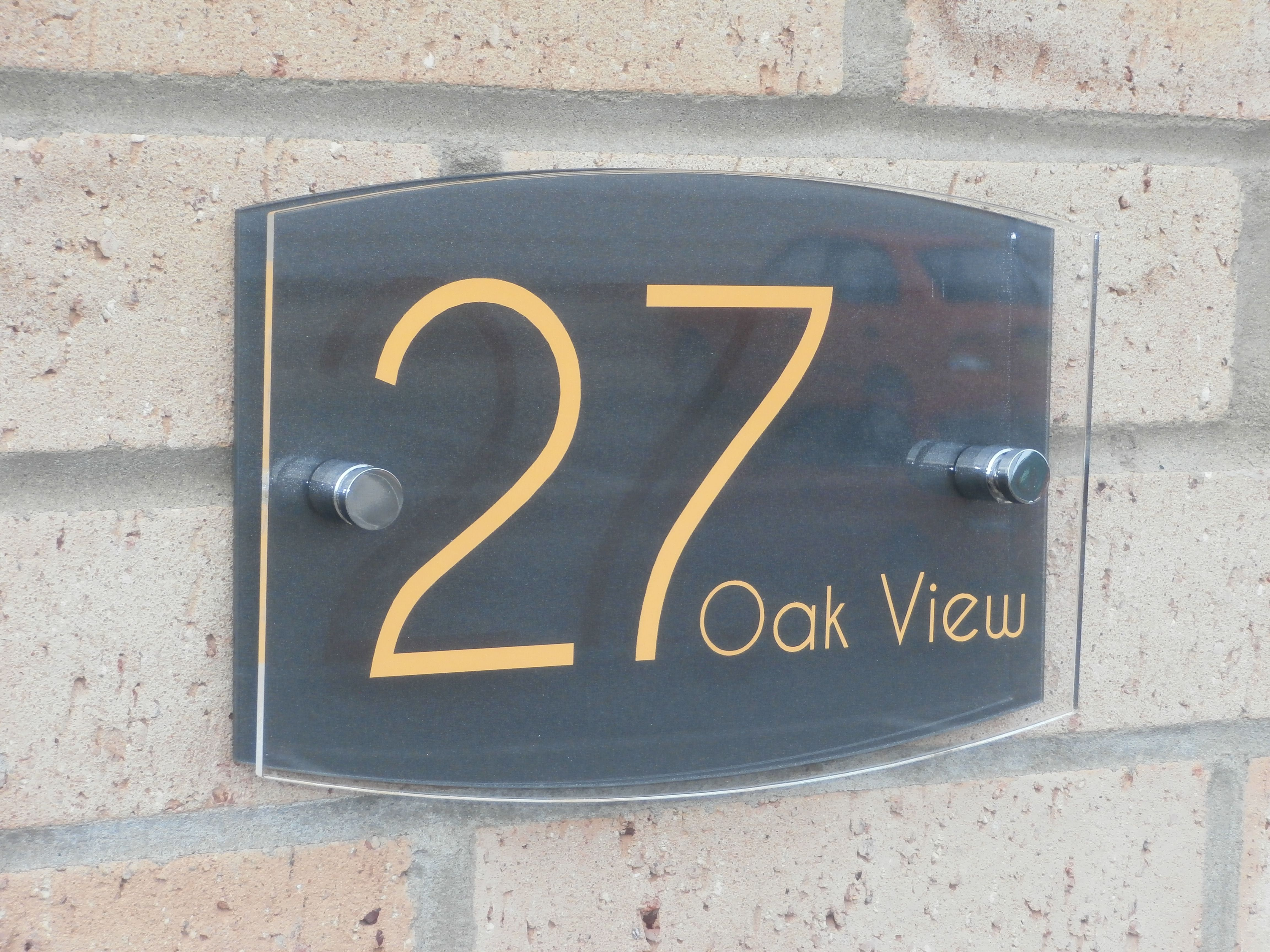 This Marletti Modern House Number Sign Is A Real Winner With So