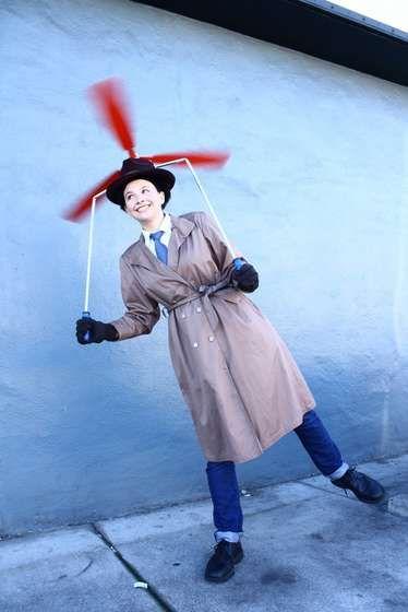 DIY Inspector Gadget costume!