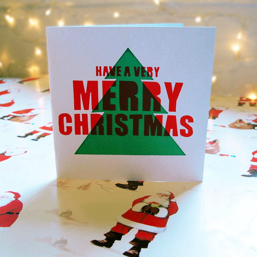 screen printed christmas card with images  print