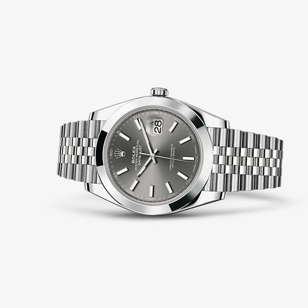 Discover the Datejust 41 watch in 904L steel on the Official