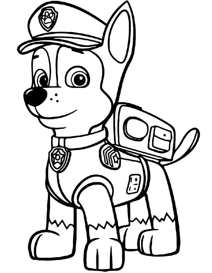 Chase Paw Patrol coloring pages to download and print for ...