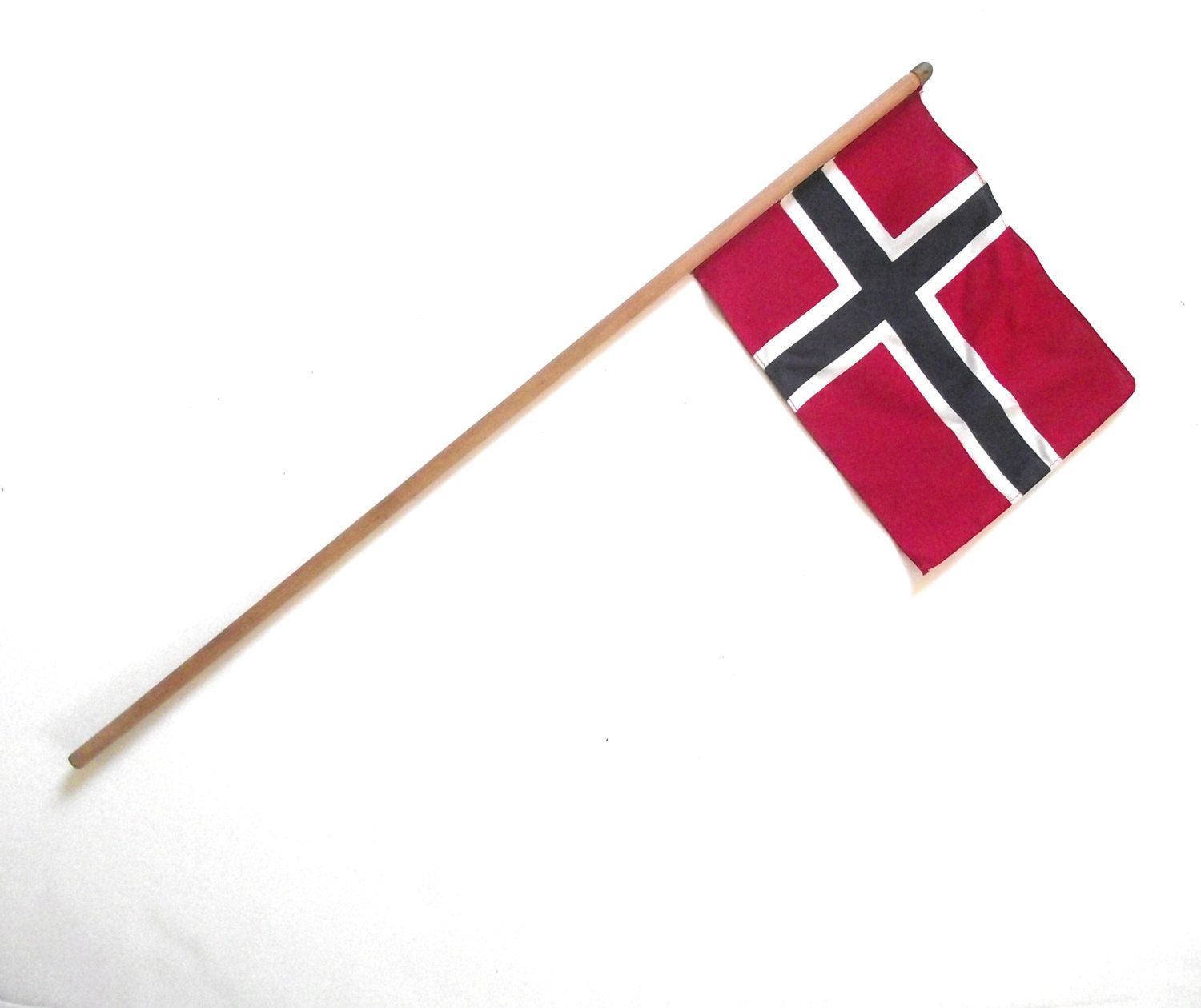Vintage Norwegian Souvenir Sized Flag Small Cloth Flag From Norway Attached To Wooden Stick G1 By Planetalissa On Etsy Cloth Flag Vintage Etsy