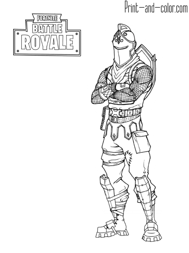 Fortnite Battle Royale Coloring Page Black Knight