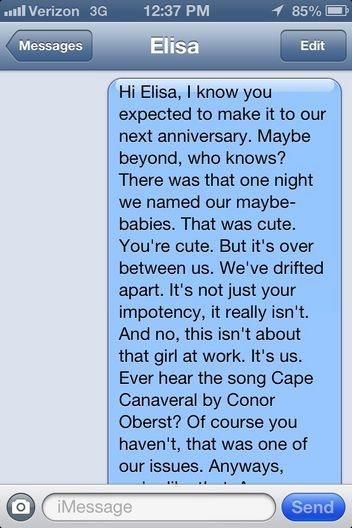 How To Dump A Boy Over Text Message