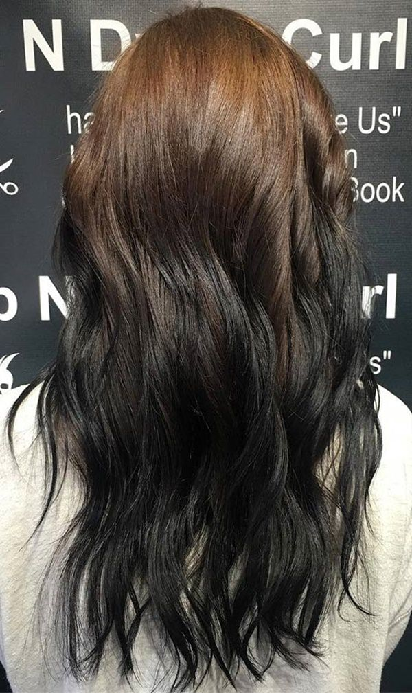 Black Reverse Ombre Google Search In 2020 Reverse Ombre Hair Black Hair Ombre Ombre Hair Color