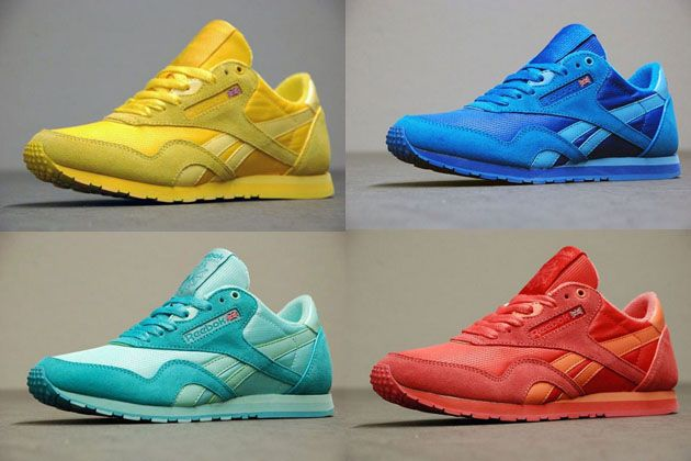 83c696ab18d3a0 Reebok Classic Nylon Slim Color Pack  sneakers  kicks I have the light blue  pair!