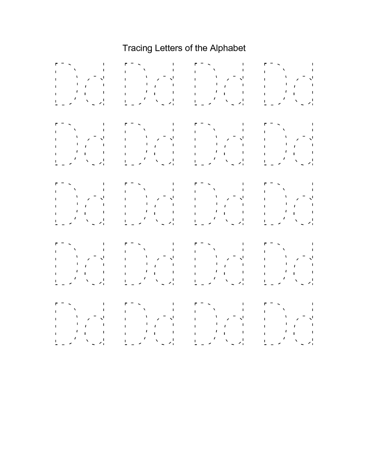 Free Traceable Alphabet D