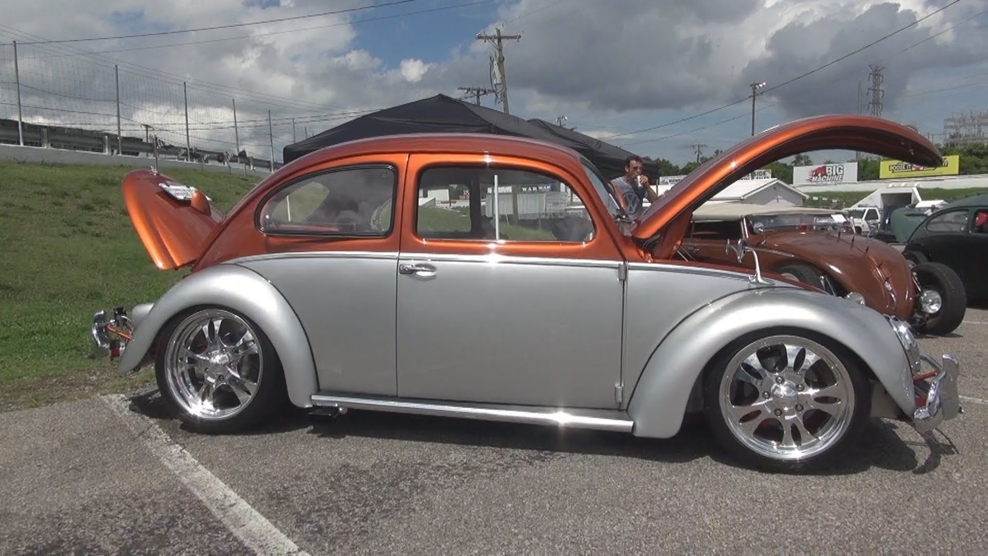 Custom Painted Hot Rods Very Cool 1958 Vw Beetle Bug Rod Nashville Sdway