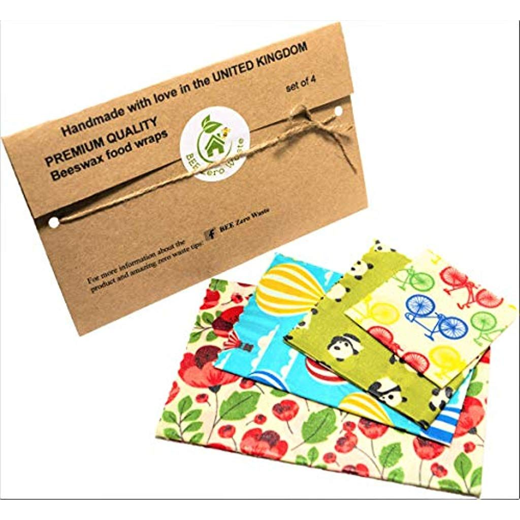 UK Handmade Cling Film Alternative Food Wrap BEES WAX WRAPS Various sizes