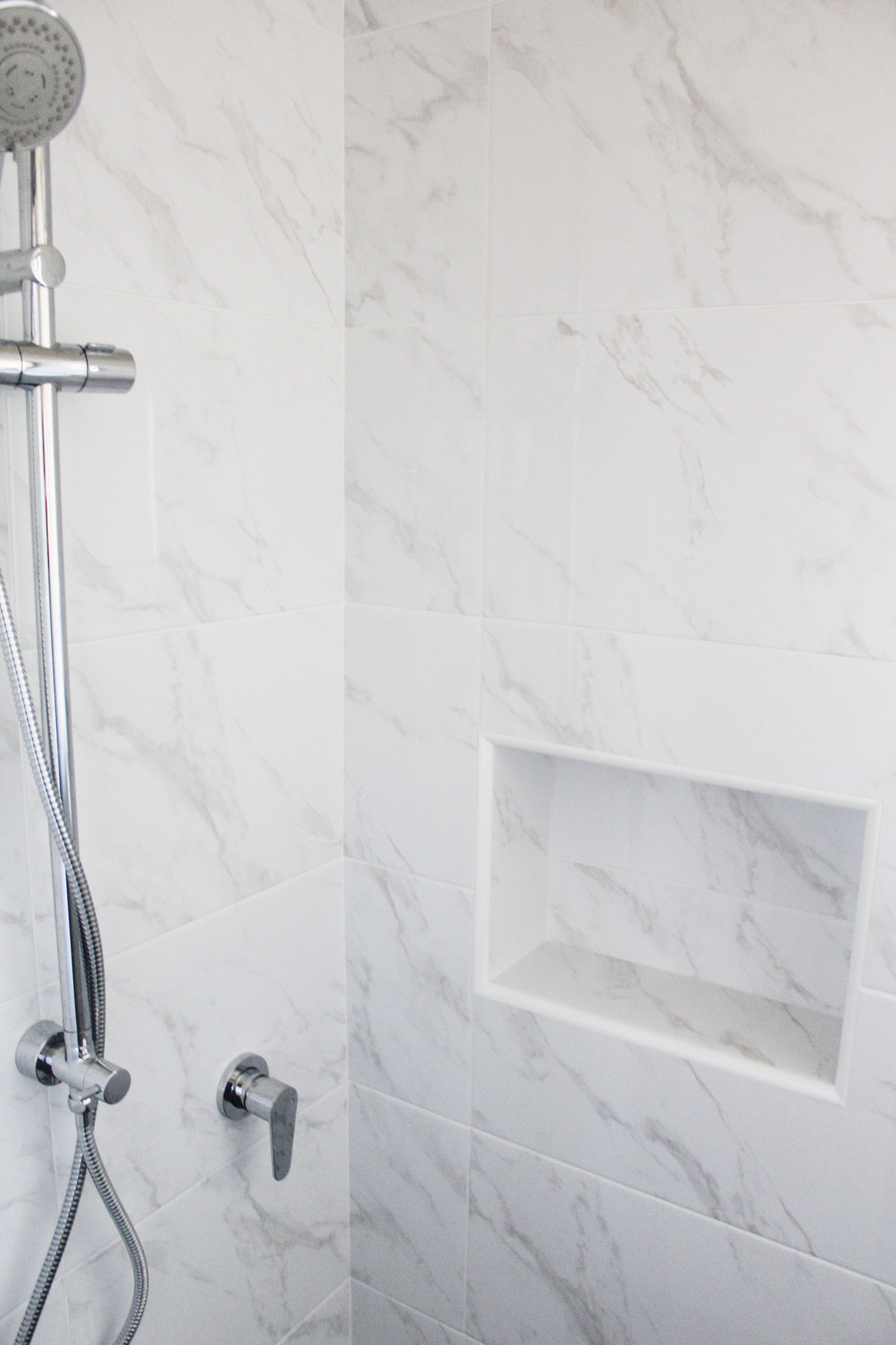 All Tiles Shower Recess Shower Niche Marble Shower Recess Shower Marble Shelf Marble Shower Shelf On The Ball Marble Showers Carrara Bathroom Marble Bathroom