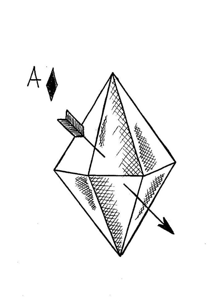 Ace of Diamonds tattoo and illustration design by Daniel