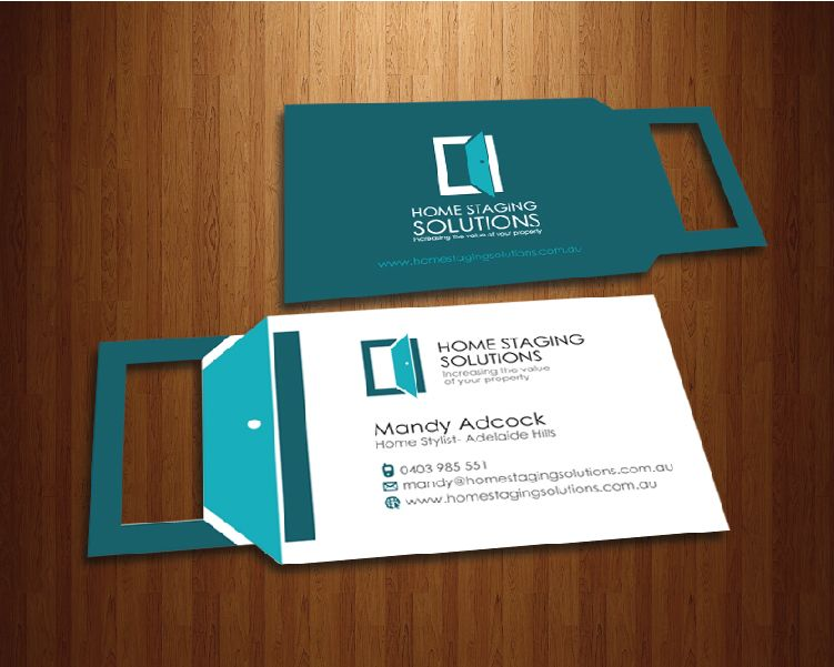 logo business card by gobrayrosse business card designbusiness cardshome stagingcard - Home Staging Design