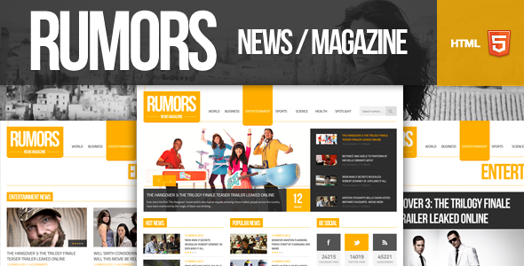 Rumors news magazine responsive html5 template ive used the rumors news magazine responsive html5 template ive used the following fonts maxwellsz