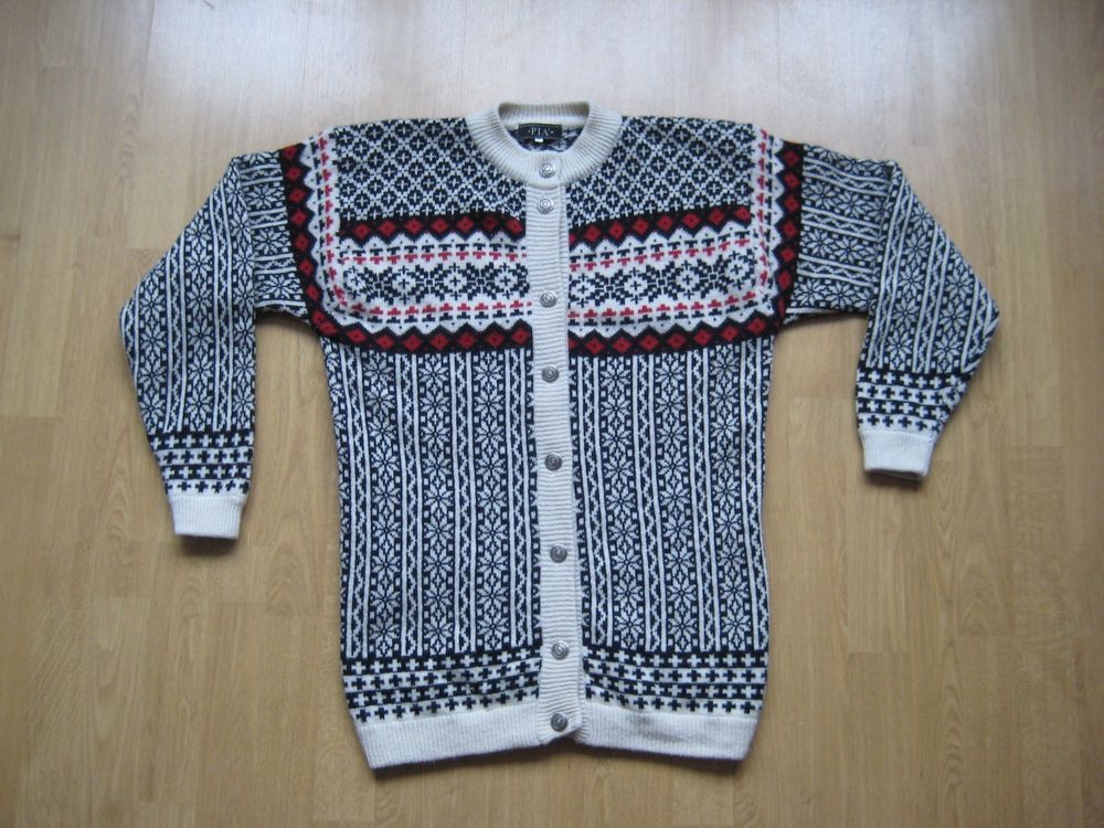 PTA Womens Fair Isle Nordic Pattern Wool Sweater Cardigan M #PTA ...