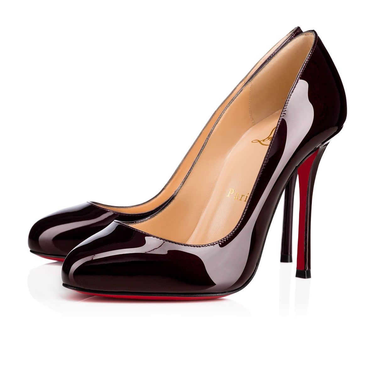 9fa940cb08f2 Christian Louboutin United States Official Online Boutique - Merci Allen 100  Merlot Patent Leather available online. Discover more Women Shoes by  Christian ...