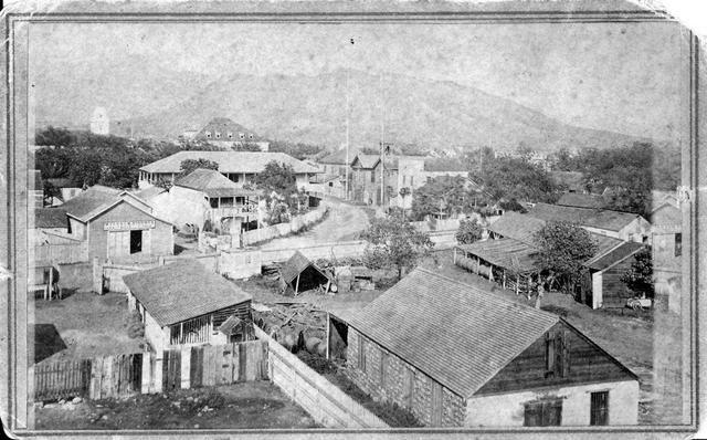 Honolulu Street Scene Including Part Of Hotel Street With Punchbowl In The Background 1869 Hawaiian History Vintage Hawaii Honolulu