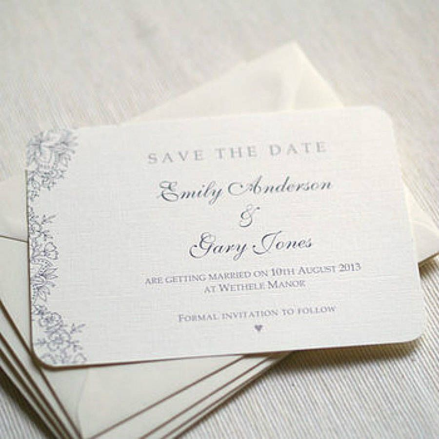 Vintage Lace' Wedding Save The Date Cards | Beautiful, Vintage ...