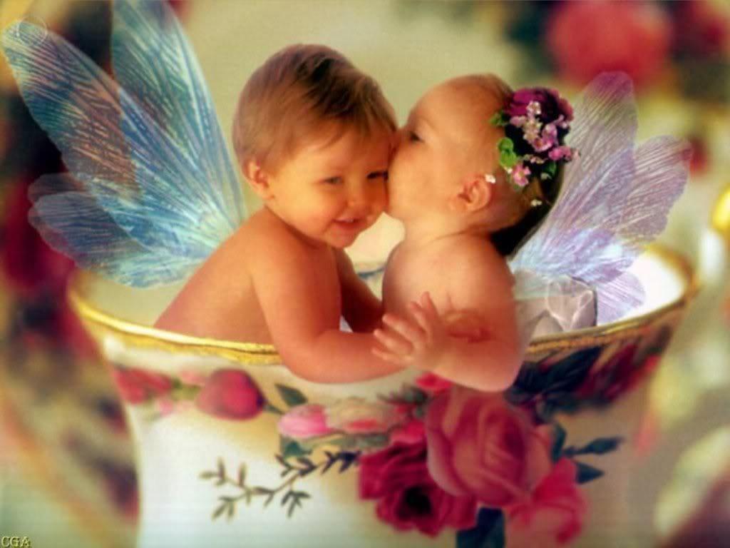 A Teacup Full Of Love Baby Fairy Angel Wallpaper Fairy Angel