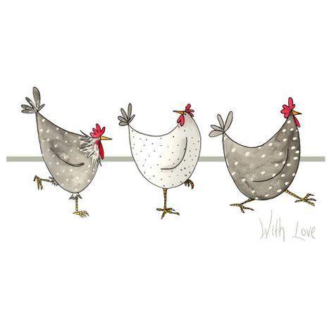 Pingl par hsaniye sur ini pinterest peinture - Dessin poule rigolote ...