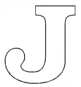 free letter j coloring pages for preschool Letter J Coloring