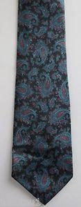 Vintage 1990's Van Heusen shinny blue Paisley design necktie. FREE SHIPPING