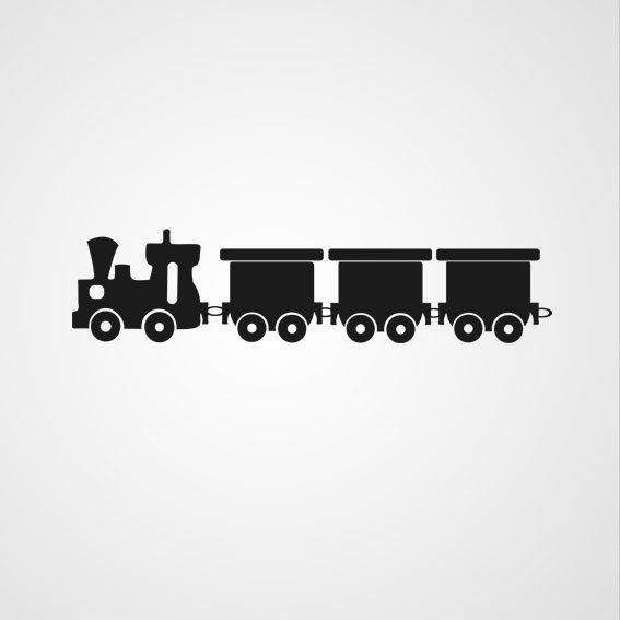 Foto trein - Dewiha Art - Muursjablonen en Muurstickers