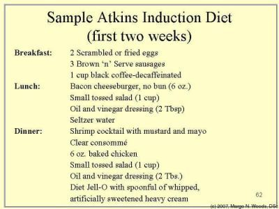 Phase  Atkins Food List  Atkins Diet Induction  Adkins Diet