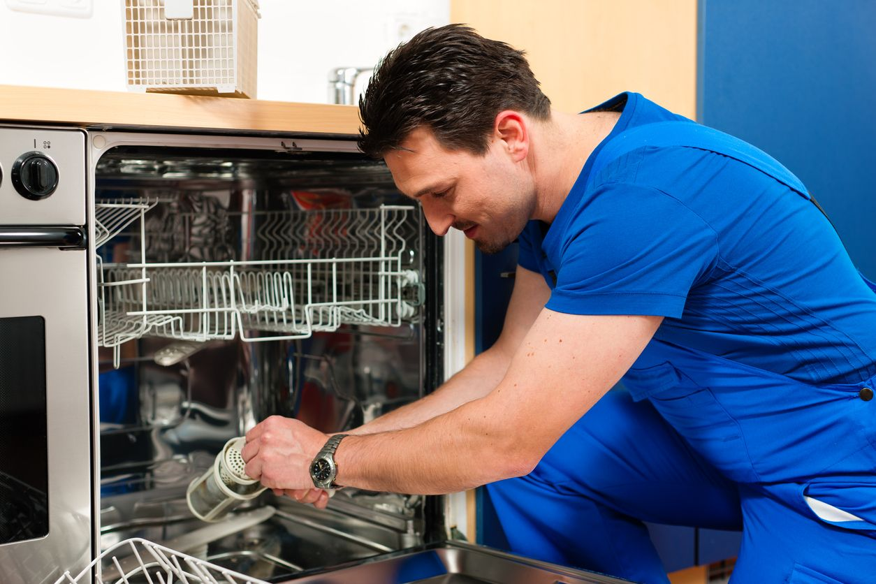 So You Ve Finally Decided To Get A New Dishwasher Now For The Fun Part Picking One Out And Installing It Typical Appliance Repair Home Repair Services Clogged Dishwasher